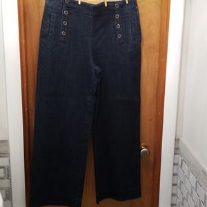 Heritage brand wide leg crop jeans